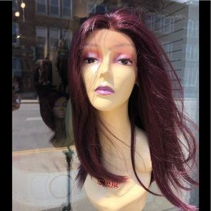 Red wine burgundy fullcap Swisslace Wig 2019 Style